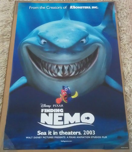 Finding Nemo Collectibles (FINDING NEMO MOVIE POSTER 2 Sided RARE INTL ORIGINAL 27x40 DISNEY)