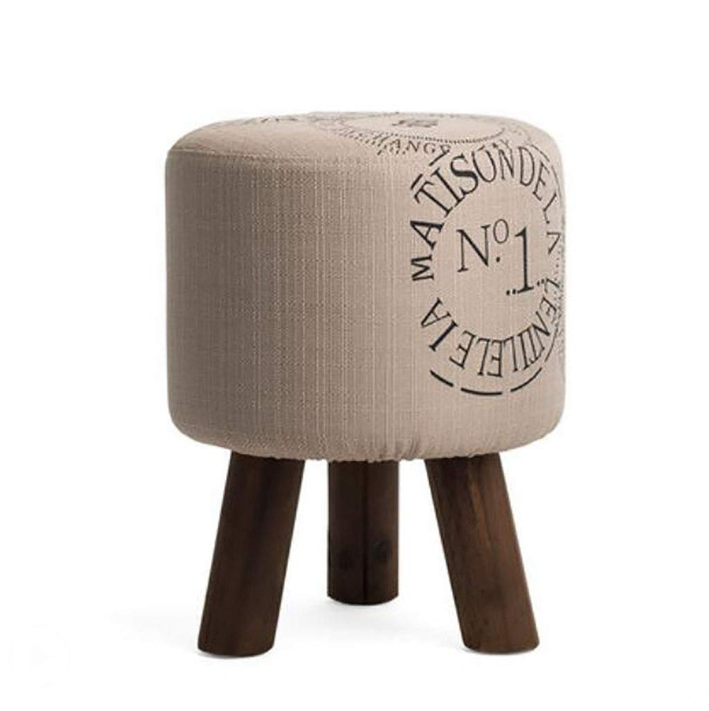 A WOOD Sofa Stool Solid wood Simple Modern Washable shoes Bench Footstool Fabric Living Room Wooden Bench (color   C)