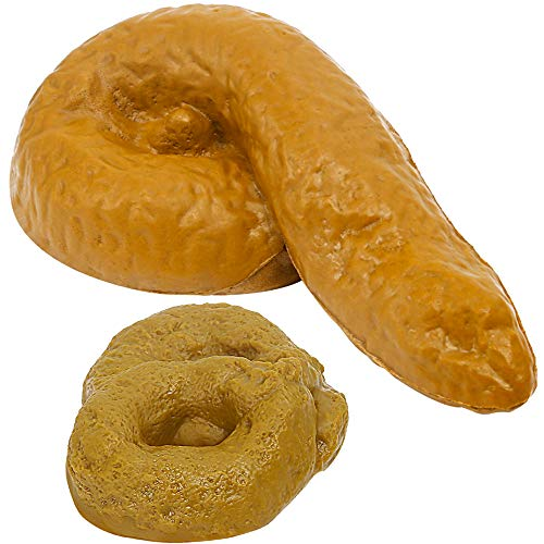 YGDZ 2 Pack Fake Poop, Realistic Prank Funny Poop Toys for Joke Trick April Fools' Day, Gag Gift Realistic Mischief Novelty Toys Look Real ()