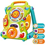 iPlay, iLearn Baby Walkers and Activity Center, Kids Magnetic Drawing Board, Toddler Musical Toys, Early Development Learning Activity Table for 6, 9, 12, 18 Month & 1, 2 Year Olds Infants Boys Girls