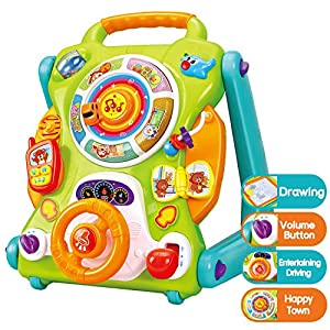 iPlay, iLearn Baby Walkers and Activity Center, Kids Magnetic Drawing Board, Toddler Musical Toys, Early Development Learning Activity Table for Age 6, 9, 12, 18 Month 1 2 Year Olds Infants Boys Girls