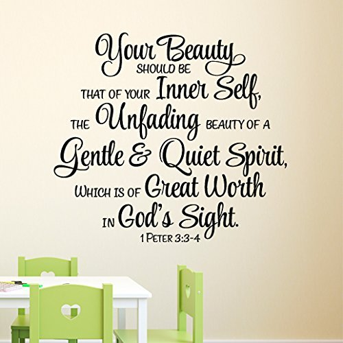 1 Peter 33 4 Great Worth In Gods Sight Vinyl Wall Decal