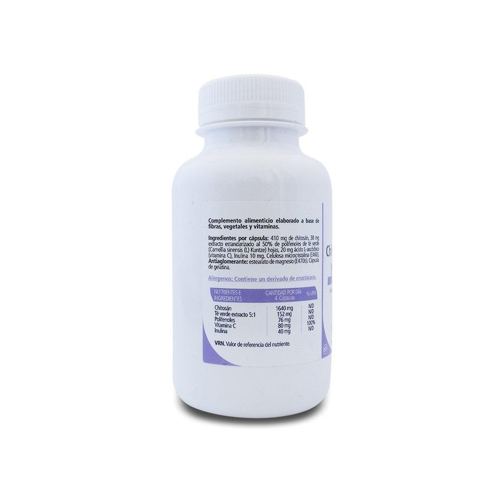 SANON Chitosán Té Verde y Vitamina C 120 cápsulas 600 mg: Amazon.es: Belleza