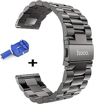 hoco. Samsung Gear S3 Frontier/Classic Correa, 22mm Acero Inoxidable Pulsera Reemplazo, Correa para Samsung Galaxy Watch 46mm(Correa + Herramienta removedor): Amazon.es: Electrónica