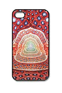 Abstract Music Tool Grey Psychedelic Music Bands Alex Grey Iphone 4/4S Black Sides Hard Shell Case by eeMuse