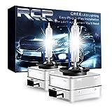 RCP - D1S8 - (A Pair) D1S/D1R 8000K Xenon HID Replacement Bulb Ice Blue Metal Stents Base 12V Car Headlight Lamps Head Lights 35W