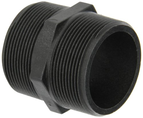 Banjo NIP200-SH Polypropylene Pipe Fitting, Short Nipple, Schedule 80, 2