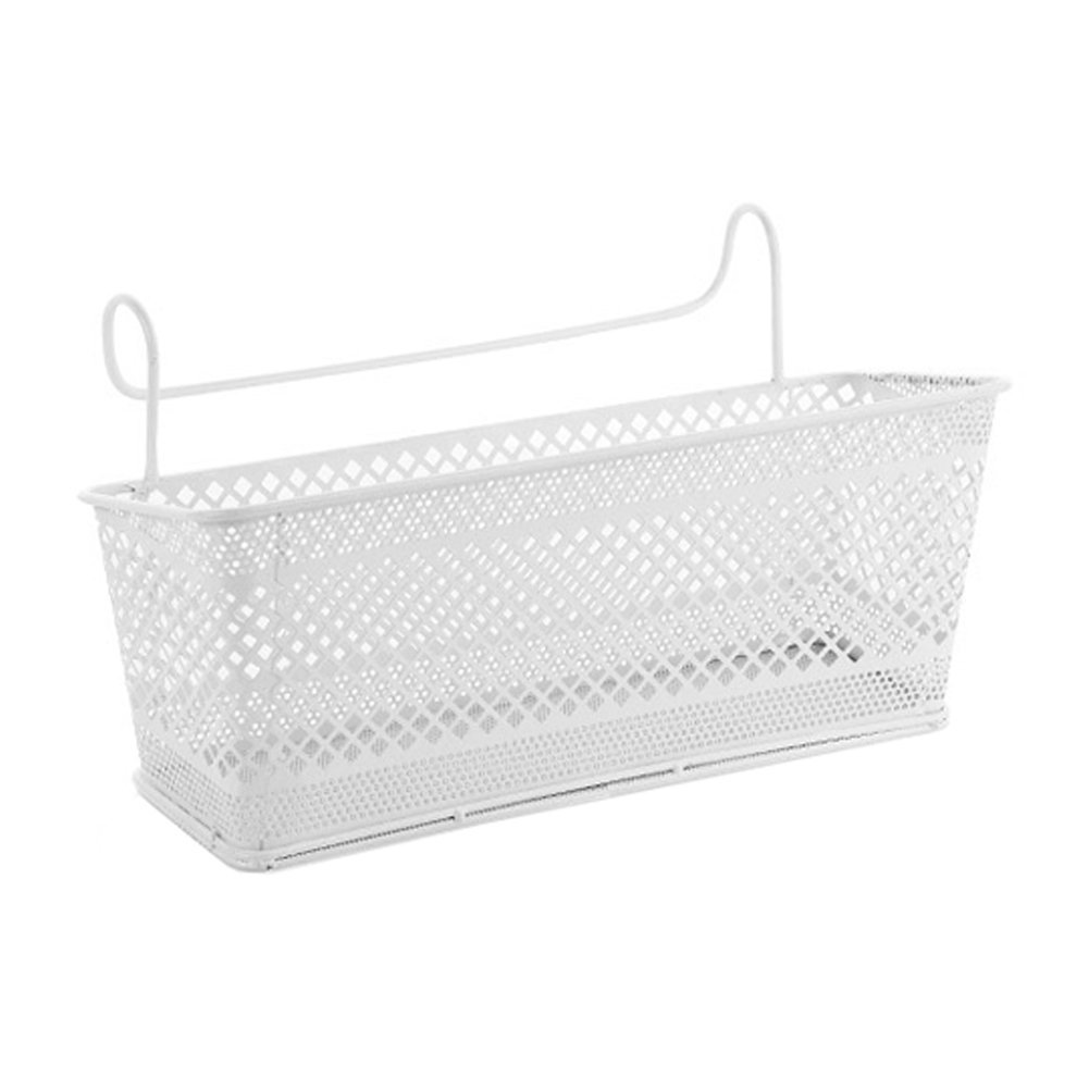 Bunk Bed Basket Dormitory Bedside Loft Beds Hanging Baskets Organizer Caddy by YAHUIPEIUS (White)