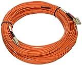 C2G/Cables to Go 37837 LC-LC 50/125 OM2 Duplex Multimode Fiber Optic Cable - Plenum CMP-Rated (30 Meter, Orange)