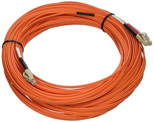 C2G/Cables to Go 37837 LC-LC 50/125 OM2 Duplex Multimode Fiber Optic Cable - Plenum CMP-Rated (30 Meter, Orange) by C2G