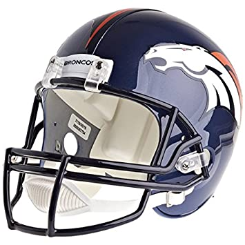 7a391275101 Image Unavailable. Image not available for. Color  Denver Broncos Officially  Licensed VSR4 Full Size Replica Football Helmet