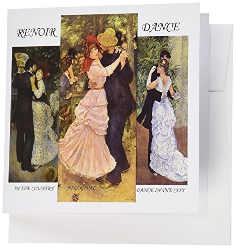 Dance Collage - 3dRose Collage Of Renoirs Dance Paintings - Greeting Cards, 6 x 6 inches, set of 6 (gc_49362_1)