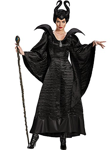 Disguise Women's Disney Maleficent Christening Gown Deluxe Costume, Black, 12-14]()