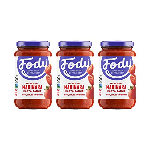 Fody Food Co, Marinara Pasta Sauce, Low FODMAP and Gut Friendly, Gluten and Lactose Free, Garlic and Onion Free, 3 Pack (Pasta Sauce Tomato Garlic)