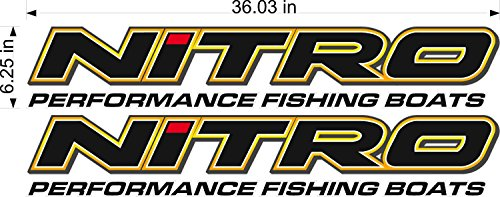 NITRO Boats Logo Decal PAIR 7x36