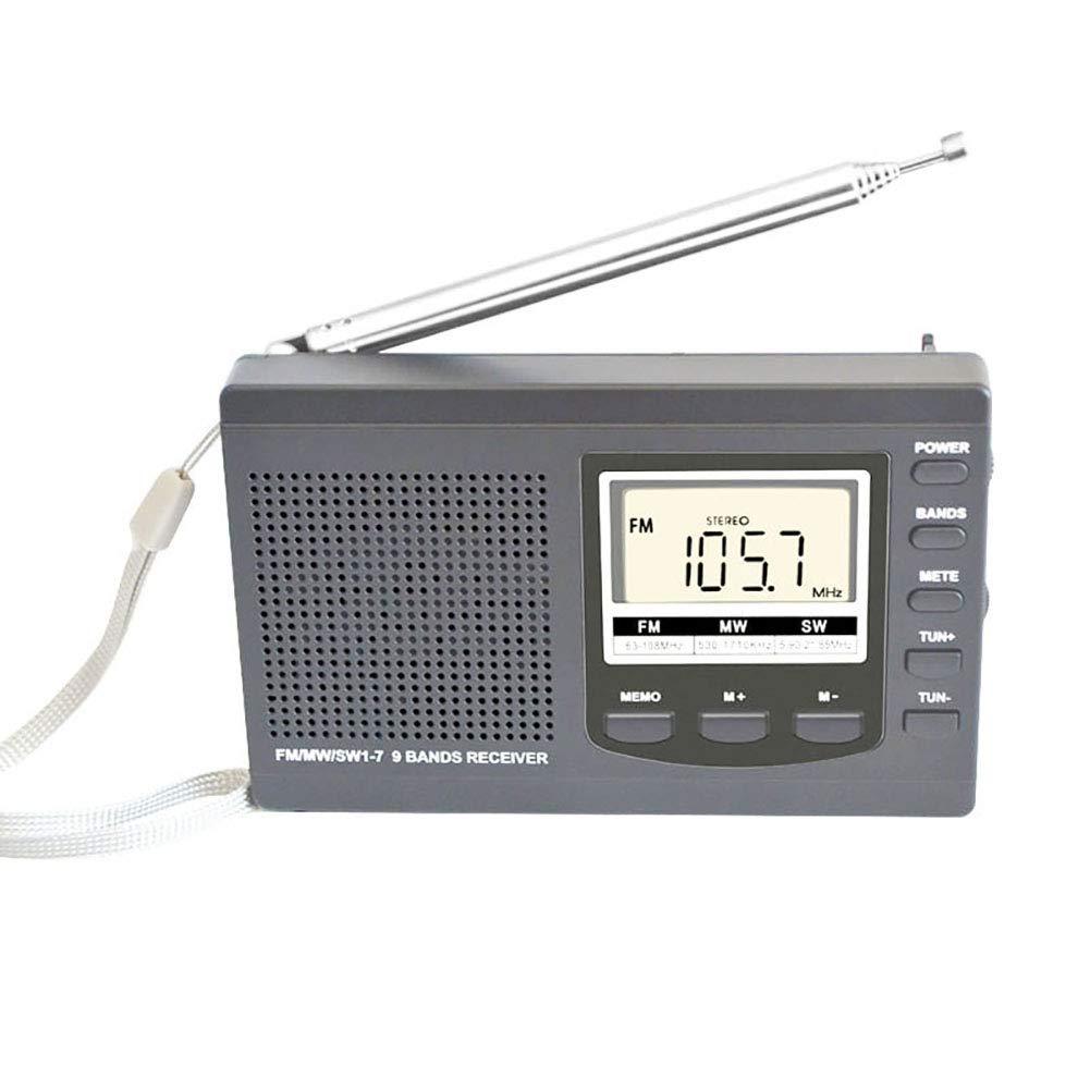 9302sonoaud Radio Ricevitore Radio AM//FM//SW//MW Full Band LCD Digitale Grey Mini Ricevitore Portatile HRD-310 Mini