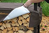 The Woodhaven Brown 12 Foot Firewood Log Rack with Cover