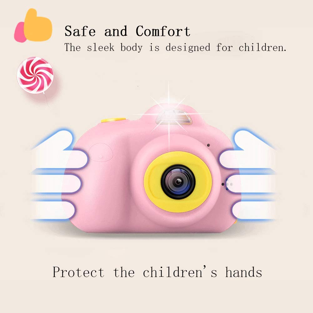 Anviker Kids Camera Gifts for 4-10 Year Old Girls, Shockproof Child Camcorder for Little Girls with Soft Silicone Shell for Outdoor Play, Pink (SD Card Not Includ) by Anviker (Image #4)