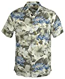 Tommy Bahama Men's Garden of Hope and Courage Silk Camp Short Sleeve Shirt-BW-M
