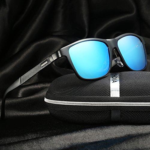 Metal Al Polarizado Azul de KITHDIA Mg Gafas Marco Super Hombre Ligero sol Wayfarer qawOTx8
