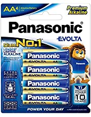 Panasonic Evolta Alkaline Battery, AA, 4ct
