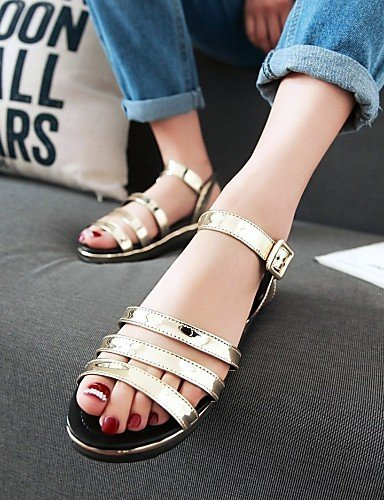 Platform Toe Silver Shoes Casual Gold Dress Women's Silver Blue Sandals ShangYi Comfort Open wEF4xXq