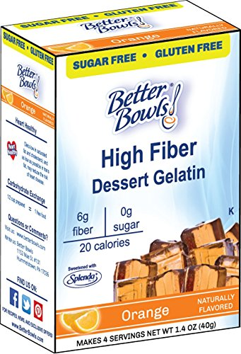 Better Bowls Sugar Free, Orange Gelatin, 1.4 Ounce (Pack of (Orange Gelatin)
