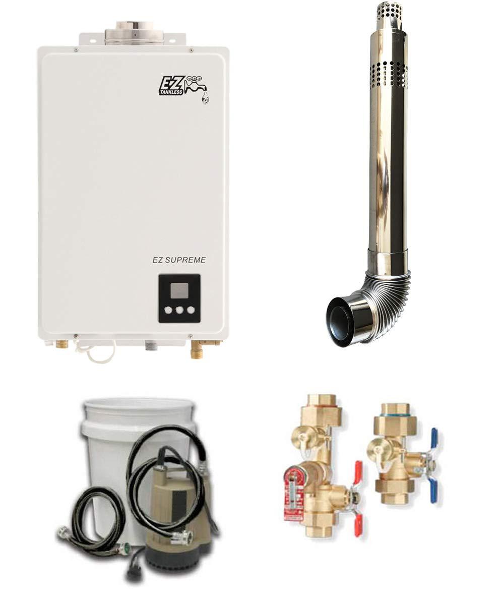 EZ Supreme Propane Tankless Water Heater w/Maintenance/Flush Kit