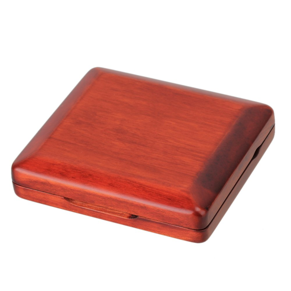 Red Elegant Solid Wooden Bassoon Reed Case Holds for 3pcs Reeds