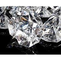2 libras de 25 quilates de diamantes de acrílico transparentes - Diamantes grandes para decoraciones de centros de mesa, decoraciones de bodas, decoraciones para despedidas de soltera