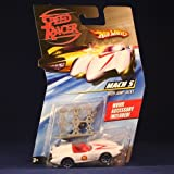 MACH 5 RACE CAR WITH JUMP JACKS Hot Wheels SPEED RACER 1:64 Scale Movie Vehicle
