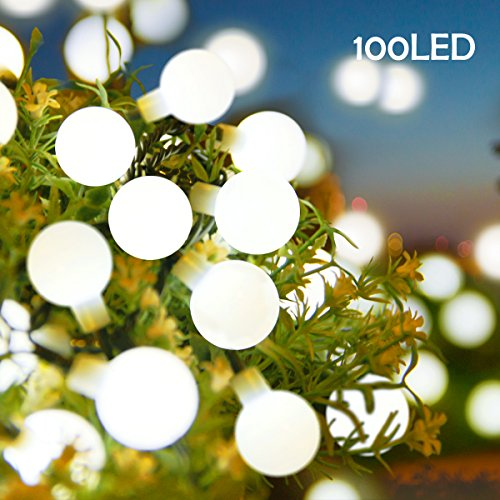 Lalapao Globe String Lights Outdoor Christmas Decorations 100 LED