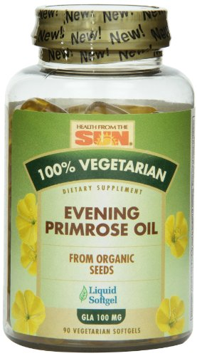 Health From The Sun 100% Vegetarian Evening Primrose Oil Softgels, 90-Count