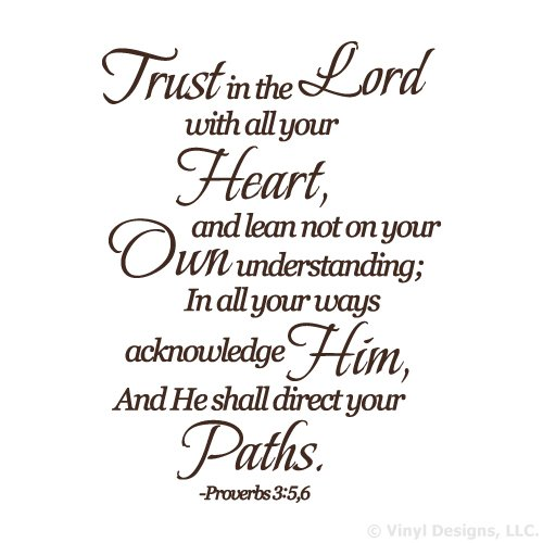 Trust in the Lord Quote Vinyl Wall Decal Sticker Art-Home