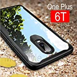 Oneplus 6t Cover MOBISTYLE - Shockproof Ultra Thin Clear Shell All Side Protection Back Case Cover for OnePlus 6T / One Plus 6T / 1+6T (Shockproof Black)