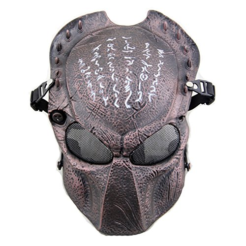 ATAIRSOFT Tactical Airsoft Paintball Alien Vs Predator Protective Full Face Mask ()