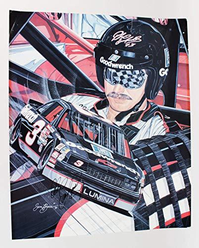 (NASCAR- Dale Earnhardt, Sr. Signed 24 x30 Lithograph LE by Sam Bass- JSA)