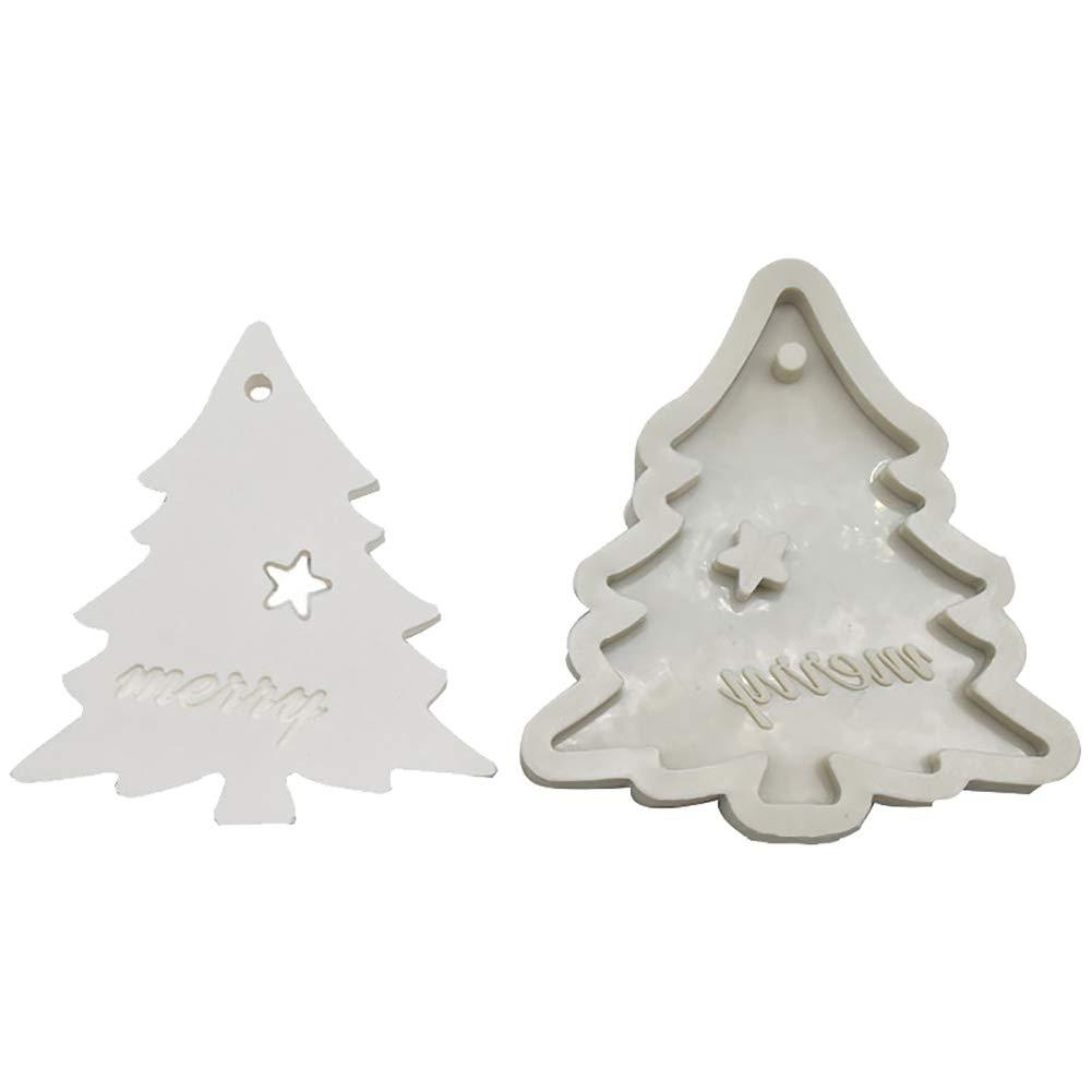 Dosige Seifenform Weihnachtsbaum Gie/ßform Fondant-Kuchenform Silikonform f/ür Seifen und Kerzen Bodymelt Gips-Form Seifengie/ßform Seifenstempel 9 1.7cm 8