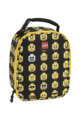 LEGO Kids Minifigure Lunch Backpack, Black, One - Box Face Lunch