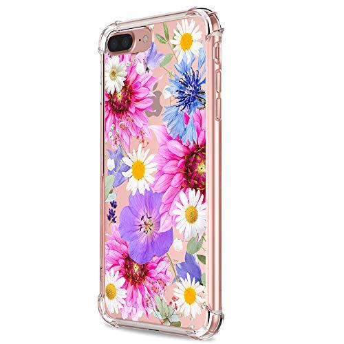 iPhone 7 Plus/8 Plus Case Ultra Slim Clear Anti-Shock&Fingerprint Technology Cover for Apple 7 Plus (25, iPhone 7 Plus)