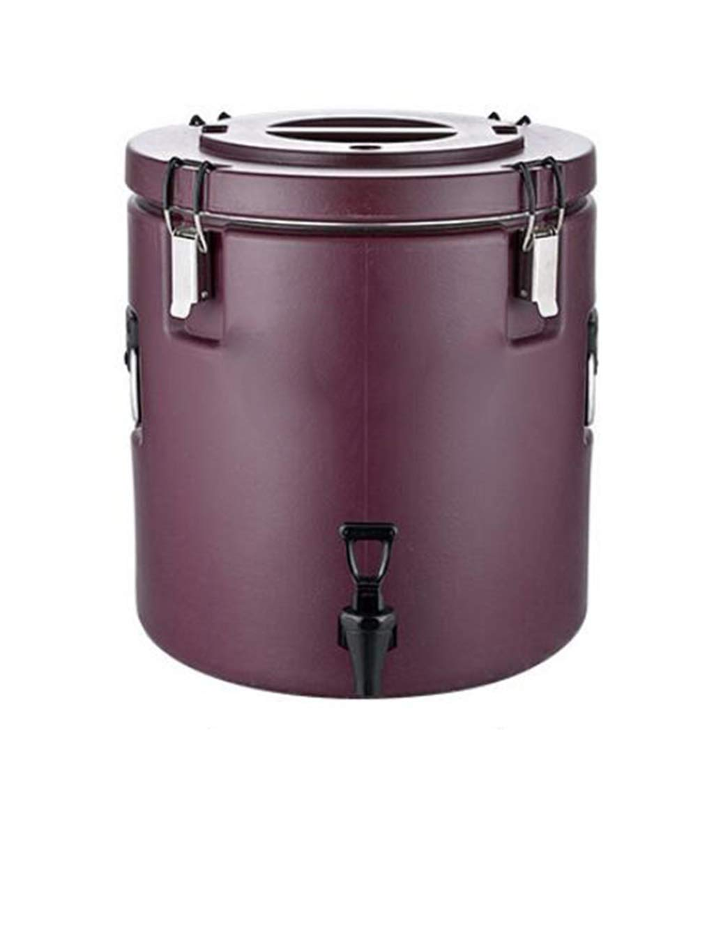 Color : Brown, Size : 20L GZKXUE Stainless steel hot water dispenser Large capacity milk tea cooler Commercial double insulation rice bucket for coffee shop 20L-60L