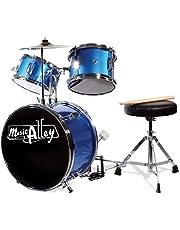 Music Alley Kids 3 Piece Beginners Drum Kit, Blue, inch (DBJK02)
