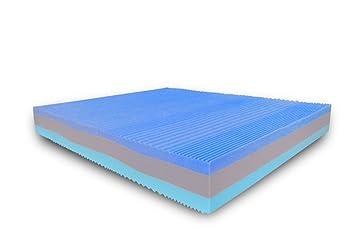 Baldiflex - Colchón de Matrimonio Memory Foam Comfort 3 Capas de arcoíris Fresh 160 x 190 cm - Aloe Vera Cus. Jabón Incl.: Amazon.es: Hogar