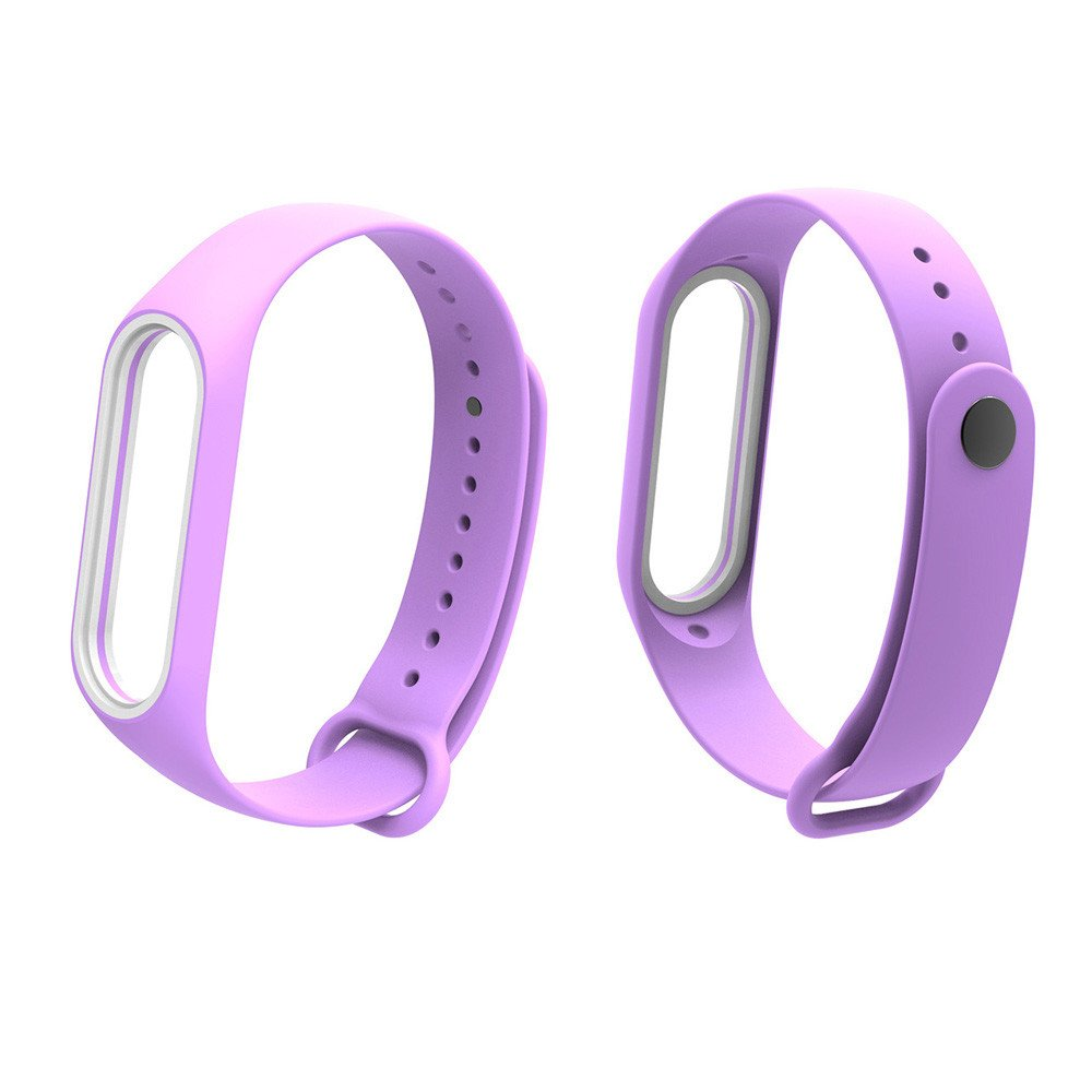 Fullfun Bracelet for Xiaomi Mi Band 3 Sport Strap Watch Wrist Miband 3 Strap (Purple)