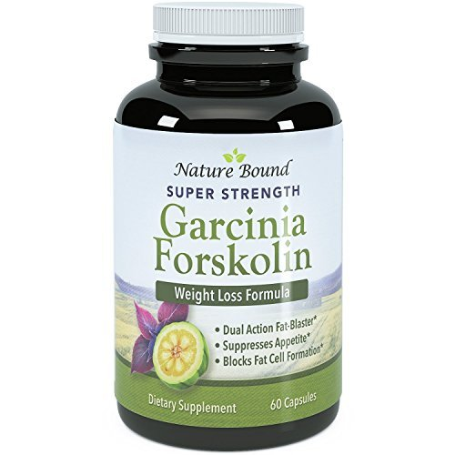 Garcinia Cambogia and Forskolin Extract Blend - Pure & Potent - Natural Weight Loss Supplement for Women & Men - Guaranteed By Nature Bound