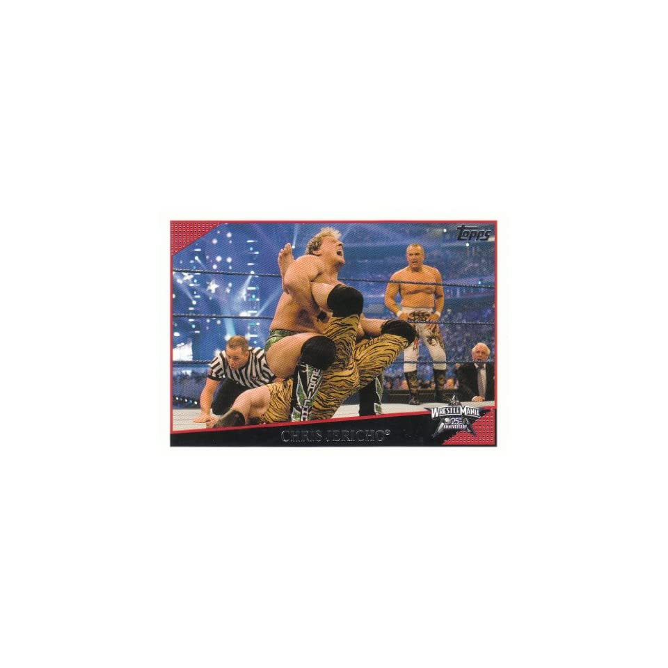 2009 Topps WWE Trading Cards Basic Card WrestleMania 25th Anniversary  Chirs Jericho (vs. Roddy Piper, Jimmy Snuka & Ricky Steamboat) #81