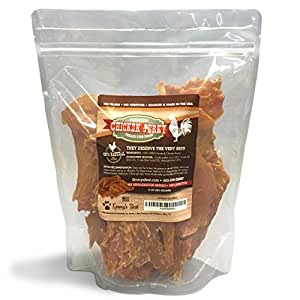 Premium Chicken Jerky Dog Treats Made in USA Only No Fillers, Additives or Preservatives
