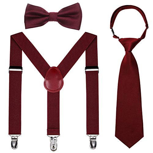 Kids Suspender Bowtie Necktie Sets product image