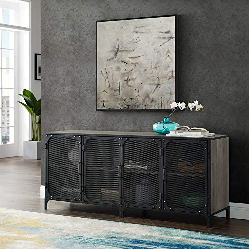 WE Furniture AZ60SOI4DGW TV Stand, 60