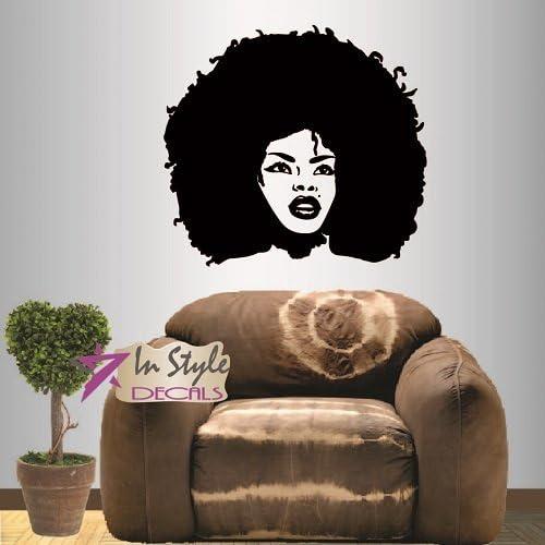 Wall Stickers Hairdresser Stylish Beauty Salon Girls Art Decals Vinyl Home Room